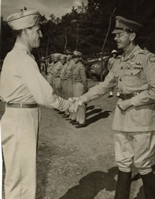 This photo was taken in Italy showing dad with General (Sir) Harold Alexander. According to dad, General Alexander was really the soldier's soldier. I could tell by dad's words--as well as the look of joy on his face--that he was happy to have his achievement acknowledged by Gen. Alexander