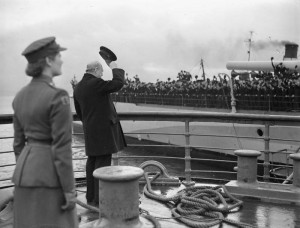 MR CHURCHILL'S RETURN. 20 SEPTEMBER 1943, GREENOCK.