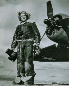 Margaret Bourke White a Life Magazine Photographer who was actually on the Strathallan when she was hit by a torpedo.