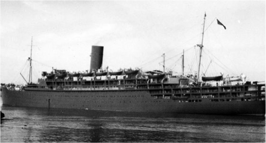 The Strathallan in it's wartime grey paint